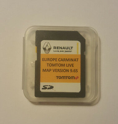 RENAULT Tom Tom LIVE CARMINAT NAVIGATION SD CARD EUROPE+UK SAT NAV MAP 2017