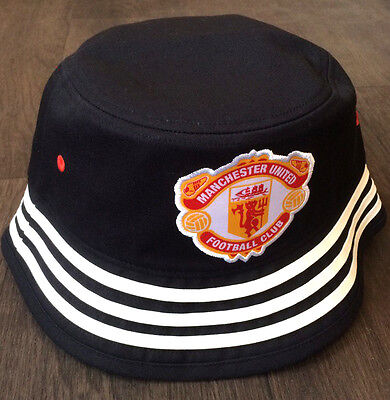 5+/5 1990's Vintage MANCHESTER UNITED Retro Bucket Hat - Black AJ4819