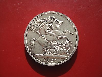 UK British 1951 Festival of Britain 5 Shilling Crown King George VI Coin
