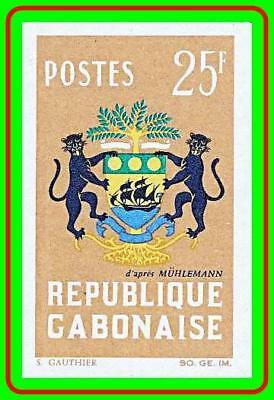 GABON 1964 COAT OF ARMS imperforated SC#171 MNH
