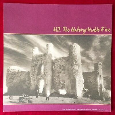 "Rare U2: The Unforgettable Fire PROMO ALBUM FLAT WALL DISPLAY 12"" X 12"" Poster"