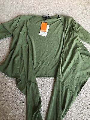 Isabella Oliver Khaki Green Wrap Maternity Top Size 2 New With Tags