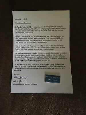"Amtrak ""Break The Travel Quo"" Lapel Pin"