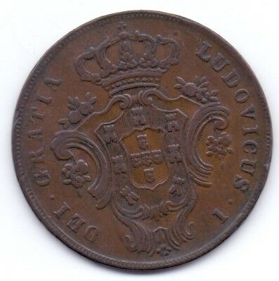 1 COIN PORTUGAL PORTUGESA ADMINISTRATION AZORES 10 REIS Copper 1865 (low mint)