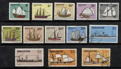 Singapore ****************************** 1980 Complete Used Ships Set