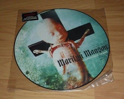 """Marilyn Manson - Disposable Teens UK 12"""" Picture Disc  Ltd Edition"""