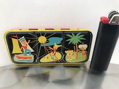 Water Color Paint tin box Scatola Acquarelli vintage Made In Germana