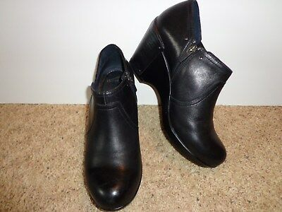 Dansko women's black wedge booties/shoes size 41 = 9.5 US