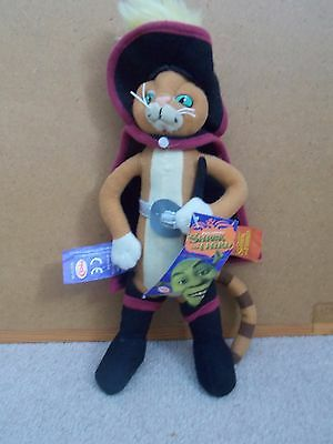 Shrek the third Puss in Boots soft toy PMS Plush toy with tags