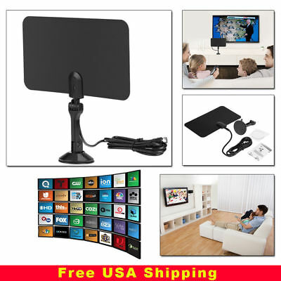 Thin Flat Antenna HD High Def TV Fox Scout HDTV DTV TVScout TVFox Cable Style 2