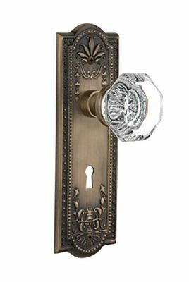 Nostalgic Warehouse Meadows Plate with Keyhole Waldorf Crystal Knob Passage -...
