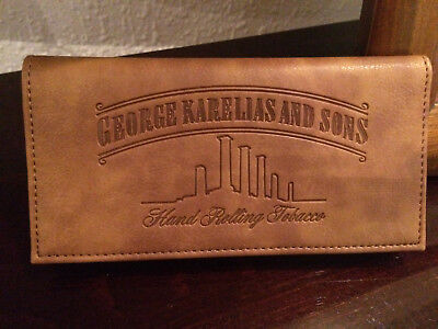 Rolling Tobacco Pouch Wallet Purse Case For Rolling Cigarette Brown Color