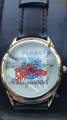 Planet Hollywood Watch-Leather Band*new*w/box