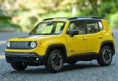 Welly 1:24 Jeep Renegade Diecast Model Sports Racing Car Toy Yellow NEW IN BOX