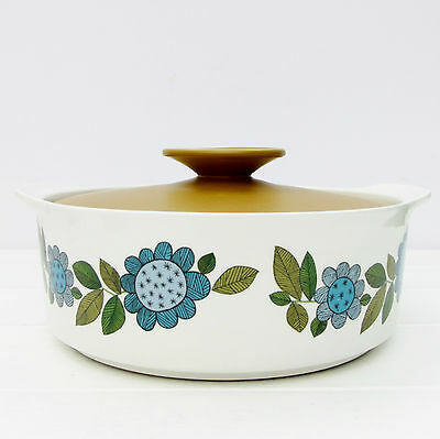 Vintage J G Meakin Topic Serving Dish Tureen Retro 1960s