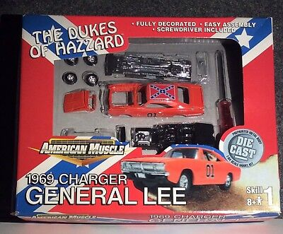 American Muscle 1969 Charger General Lee The Dukes Of Hazzard Model Kit