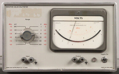 Vintage MARCONI TF 2600 Sensitive Valve Voltmeter TF2600