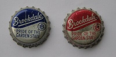 2 different Brookdale soda bottle caps from Clifton, NJ