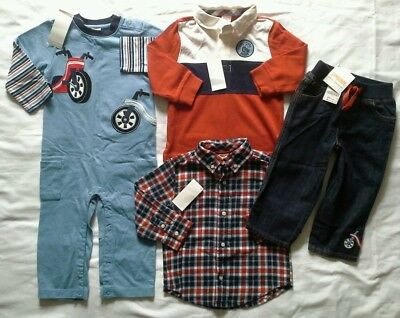 Boys 18/24 months Gymboree Junior Racer Clothes Fall winter outfits clothing lot