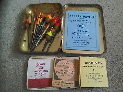 Vintage fishing floats and hooks