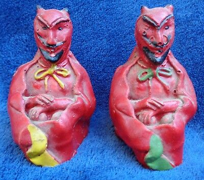 Halloween Devil Vintage Salt and Peppers Shaker