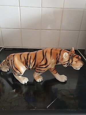 Royal dux prowling Bengal tiger 15 inches perfect condition