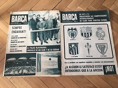 2 Magazine Official Barcelona Steaua Bucaresti Winners Cup 1971 1972 Very Rare!!