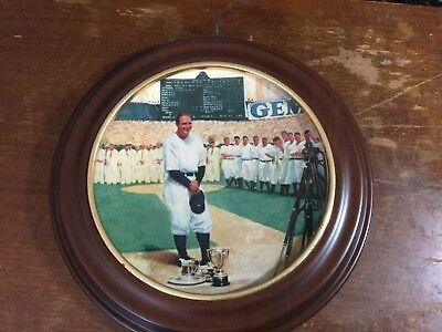 """Lou Gehrig""""The Luckiest Man"""" With Oak Frame"""