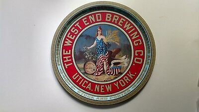 West End Brewing Co. Beer Tray Utica , New York Brewery