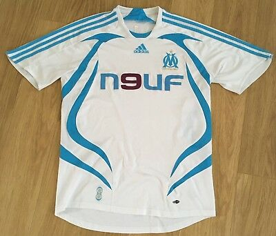 Olympique De Marseille football Shirt Top Adidas Medium m French France Retro