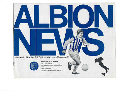 West Bromwich Albion v AS Roma (Anglo Italian Cup) - 08/05/1970