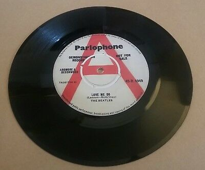 BEATLES Love Me Do DEMO 1st Original UK MINT REPLICA EMI ACETATE SINGLE 7INCH 45