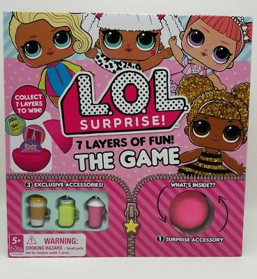 LOL Surprise Doll Board Game 7 Layers of Fun Exclusive Surprise Accessories NEW