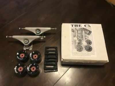 Carver-CX-Skateboard-Trucks-With-Wheels-Risers-And-Bearings-New