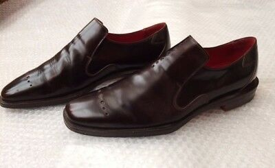 Mens Oliver Sweeney chestnut brown leather shoes Size 8