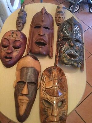 Collection Of Wooden Masks