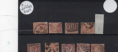 Lot Of Victorian  Gb 1/2 Penny Stamps