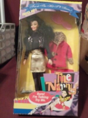 Nib 1995 The Nanny Talking Doll From Tv Hit Series W/ Fran Dresher- Works
