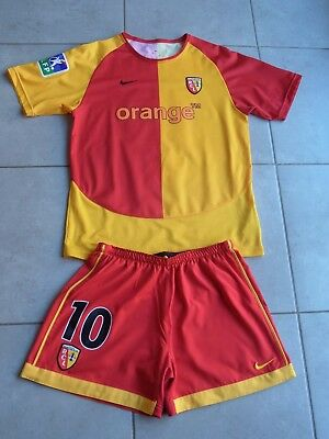 RC LENS Maillot+Short Football Collector n°10 Moreira T.Adulte M RCL Sang & Or