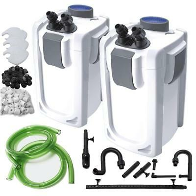 Aquarium Fish Tank External Canister Filter & Media with Optional UV Steriliser