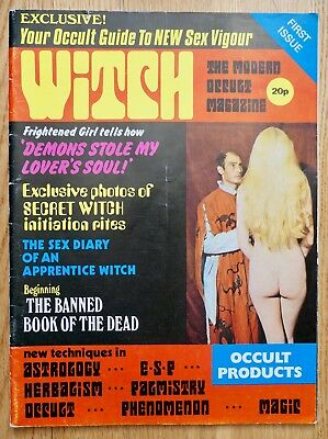 1970s WITCH MAGAZINE No.1 uk occult satanism horror witchcraft sex sexploitation
