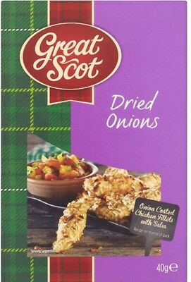 Great Scot Dried Onions - 6 x 40gm Recipe Idea Included
