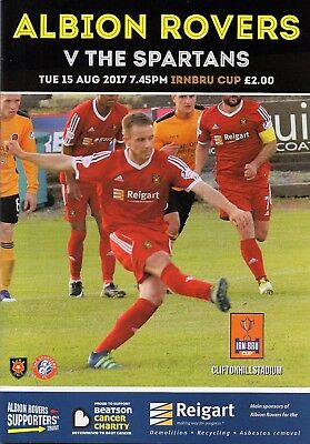 Albion Rovers v Spartans 15.08.17