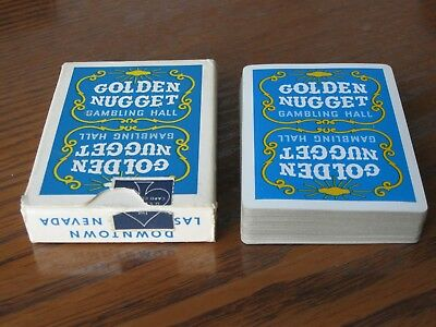 Vintage Golden Nugget Gambling Hall playing cards used RARE BLUE