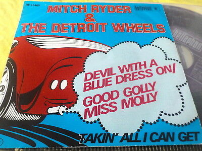 """7"""" *Rock'n'Roll* MITCH RYDER & THE DETROIT WHEELS - Devil With A Blue Dress On"""