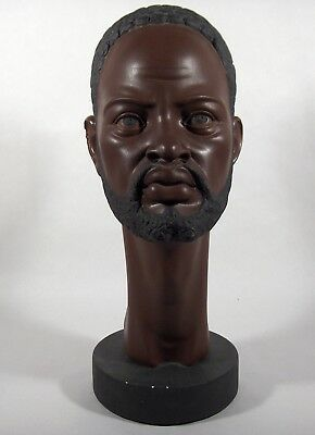 African-American Male Plaster Bust!