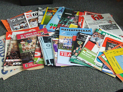 Collection Of Foreign Football Programmes And Magazines 1956 Onwards X 53 Issues