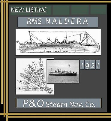 RMS NALDERA 1921 P&O: Complete Retractable Deck Plans and Profile / NEW LISTING!