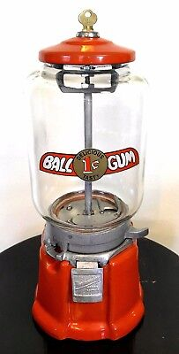 Nice Old Antique Northwestern 33 Penny Bubble Gum Gumball Vending Machine