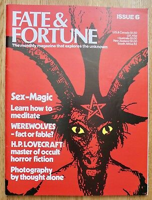 1970s FATE & FORTUNE magazine No.6 uk occult satanism witchcraft